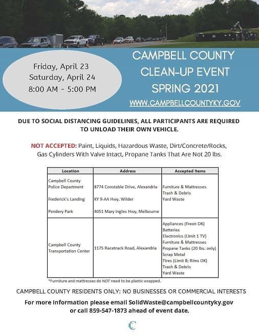 Campbell County Spring Clean Up Event