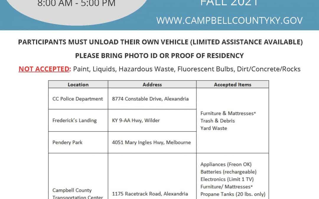 Campbell County Fall Clean Up Event